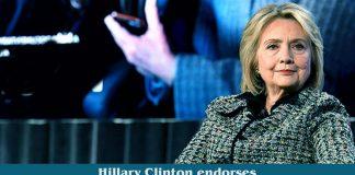 Hillary Clinton endorsed Former Vice-President Biden for President