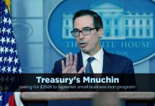 Mnuchin requested $250B to carry on small business loan program