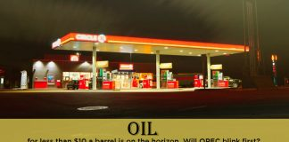 Oil below $10 per barrel is on the Horizon, Who will blink first?