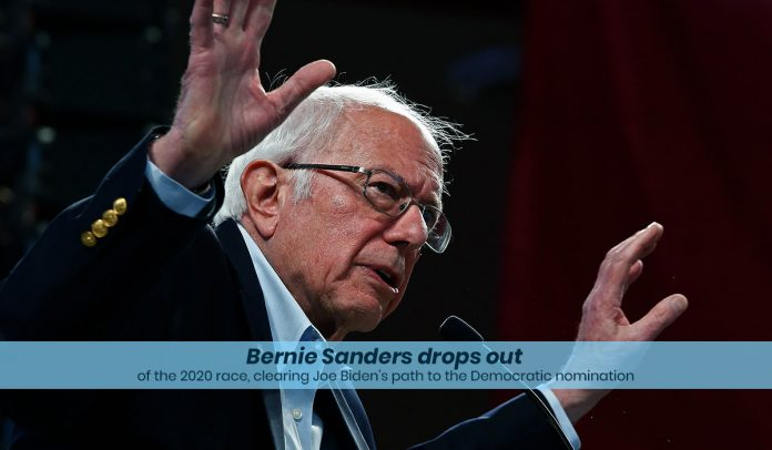 Sanders withdraw from 2020 Presidential Race, clearing Biden's way