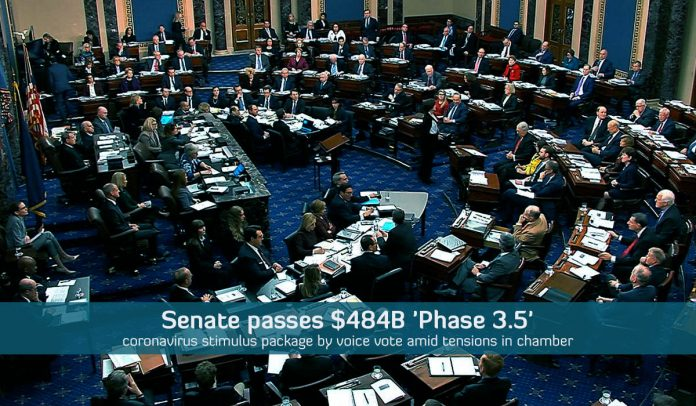 Senate passed $450B Package by voice vote to back small businesses