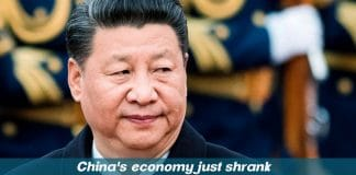 The economy of China Shrank badly for the first time in decades