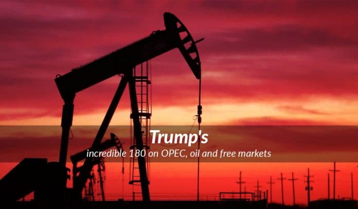 Trump goes opposite from his previous statements on OPEC and Oil