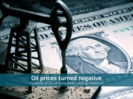 U.S. oil prices go negative for the first time in the history