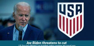 Biden wants women soccer players equal Pay to men