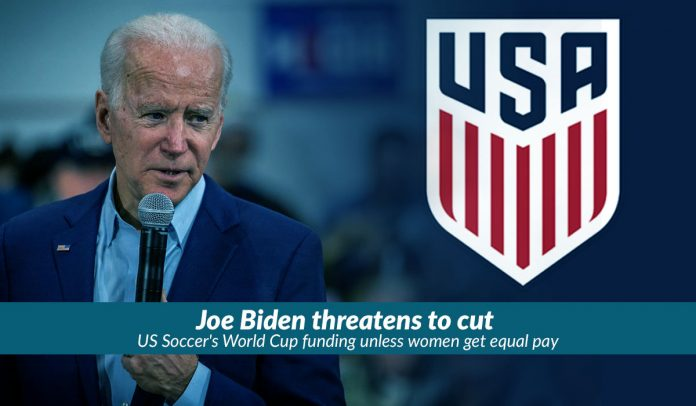 Biden wants women soccer players equal Pay to men