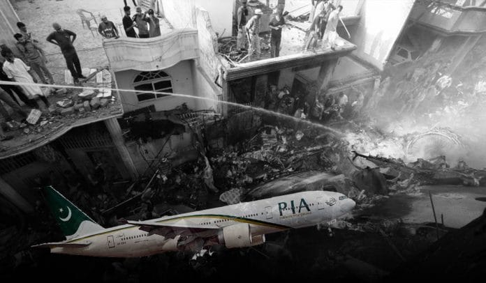Several people killed as PIA plane crashed on Homes in Karachi, Pakistan