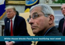 White House blocked Dr. Fauci from testifying next week