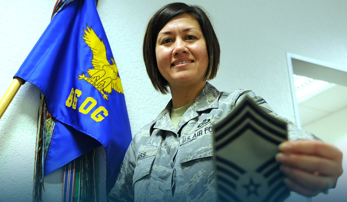 US Air Force selects first woman as top non-commissioned officer