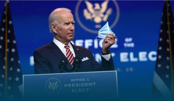 Biden ask Americans to wear masks for his initial 100 days
