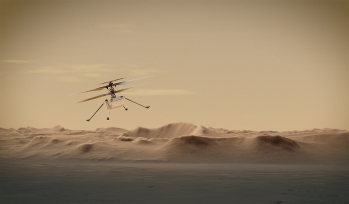 NASA's Ingenuity Helicopter Succeeded in its First Flight