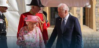 Joe Biden and His Wife have Tea with Queen Elizabeth II at Windsor Castle