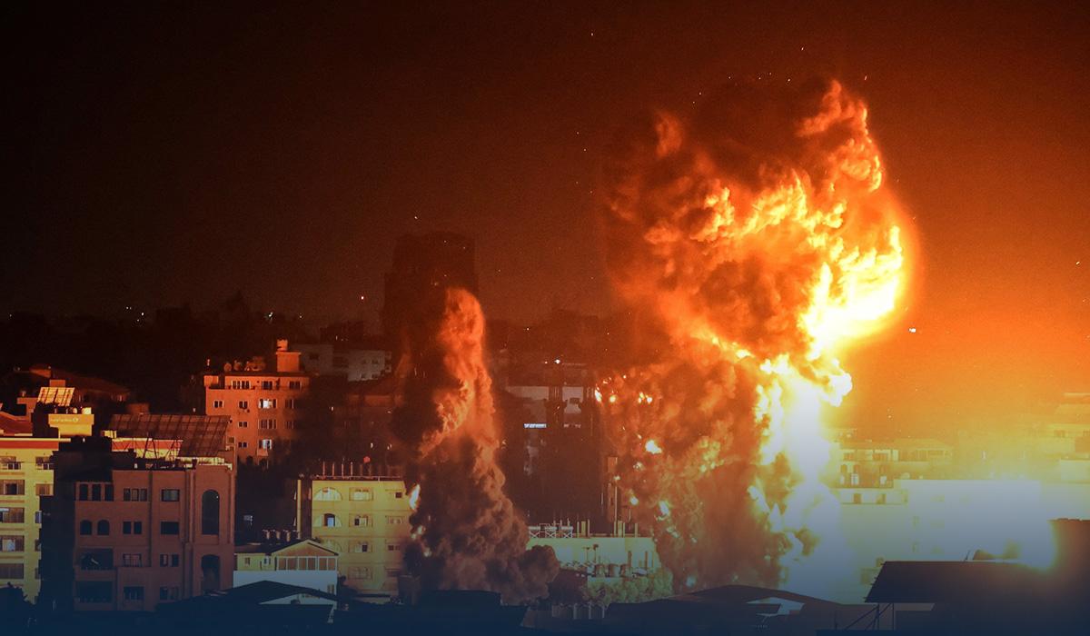 Israeli air raids target Gaza Strip, Ultranationalists march through East Jerusalem
